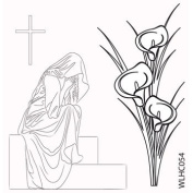 Clear stamp set Arum Lily and Outline Figure