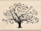 Inkadinkado Mounted Rubber Stamp 5.7cm x 7.6cm -Flourished Fall Tree