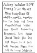 Woodware Clear Stamp Set - Wedding Words FRCL043
