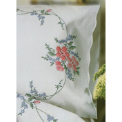 Stamped Pillowcase Pair 50cm x 80cm For Embroidery-Wild Rose