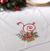 Holiday Cornucopia Stamped Cross Stitch Table Runner-36cm X110cm