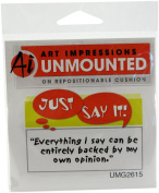Art Impressions G2615 Art Impressions Just Say It Cling Rubber Stamp-Everything I Say