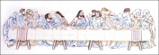 Tobin Last Supper Stamped Embroidery Kit, 23cm x 60cm , Stitched In Floss