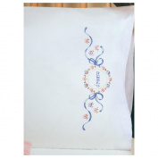 Tobin NOM378534 Stamped Pillowcase Pair, 50cm x 80cm For Embroidery, Dream