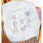 Bucilla Lullaby Friends Crib Cover Stamped Cross Stitch Kit, 90cm -by-110cm