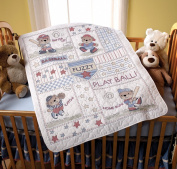 Baseball Buddies Crib Cover Stamped Cross Stitch Kit-90cm x 110cm