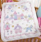 Bucilla Princess Crib Cover Stamped Cross Stitch Kit, 90cm -by-110cm