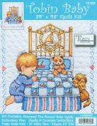 Tobin Baby 90cm x 43 Inch Stamped Cross Stitch Quilt - Boy Bedtime Prayer