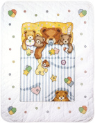 Tobin Under The Covers Baby Quilt Stamped Cross Stitch Kit-90cm x 110cm T21719
