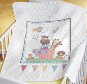 Janlynn Noah's Ark Quilt Stamped Cross Stitch Kit, 90cm x 110cm