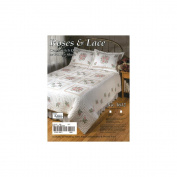 Roses & Lace Stamped Cross Stitch Quilt , 230cm x 260cm Double