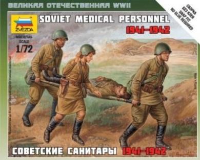 Zvezda 1/72 Soviet Medical Personnel 1941-1942 # 6152