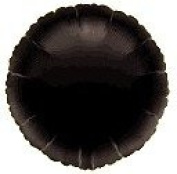 Black Round 46cm Foil Balloon