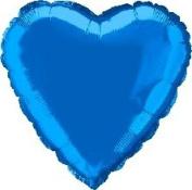 Blue Heart 46cm Foil Balloon