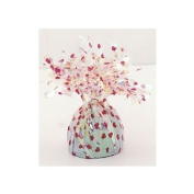 White with Red Hearts Balloon Weight - Single