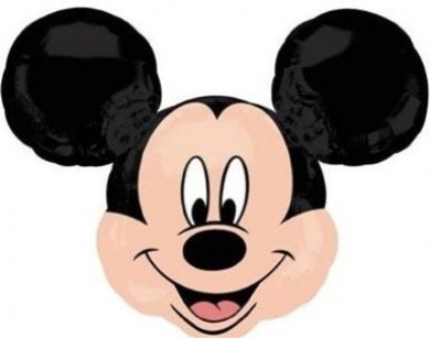 Large Mickey Mouse Helium Foil Balloon 90cm x 80cm (supplied flat)