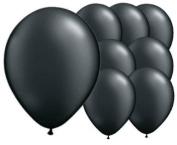 8 Ink Black 30cm Latex Balloons