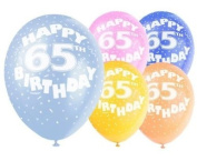 Latex Balloons 30cm - Age 65 - Pack of 5