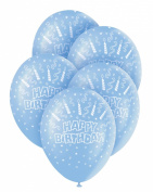 Helium Balloons - Birthday candles - blue