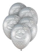 Helium Balloons - 25th Silver Anniversary