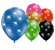 6 Fireworks 30cm Latex Balloons