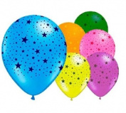 6 Stars 30cm Latex Balloons
