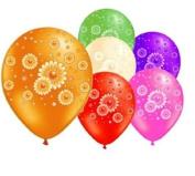 6 Daisies 30cm Latex Balloons