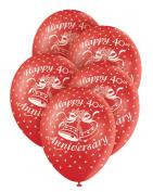 Helium Balloons - 40th Ruby Anniversary