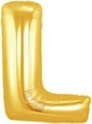 Gold Letter L Foil Balloon - 90cm