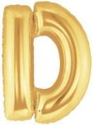 Letter D Foil Balloon - Gold