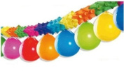 Multi-Coloured Garland With 10 Hanging Balloons