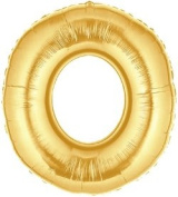 Gold Number 0 Foil Balloon - 90cm