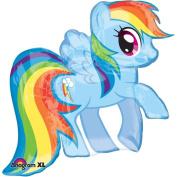 "My Little Pony Rainbow Dash SuperShape Foil Party Balloon - 28""/71cm w x 27""/68cm"