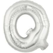 Silver Letter Q Foil Balloon - 90cm