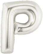 Silver Letter P Foil Balloon - 90cm