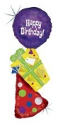 Happy Birthday Party Stacker Supershape Foil Balloon