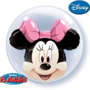 Minnie Mouse Qualatex 60cm Double Bubble Balloon