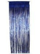 Blue Metallic Shimmer Curtain 0.9m x 2.4m - Pack of 5