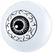 Scary Eyeballs Top Print Qualatex Latex 13cm Balloons x 100