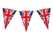 Union Jack Triangular Bunting 25 Pendant Flags @ 7m long