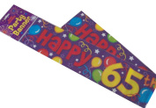 Happy 65th Birthday Party Wall Banner 3 Banners Age 65 Party Decoration