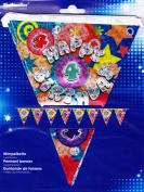 Amscan International Holographic Pennant Banner 4th Birthday