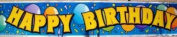 3.7m Long Musical Happy Birthday Banner