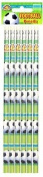 Football Pencils with Eraser Tip Pack of 6