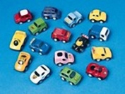 Boys Mini Pull Back Car Party Bag Fillers, pack of 6 supplied