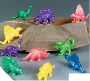Pack of 20 Stretchy Colour Dinosaurs - Ideal Loot Party Bag Stocking Filler