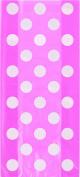 Cello Bags 28cm x 13cm 20/Pkg-Hot Pink Decorative Dots