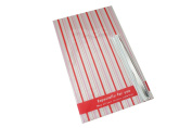 Red and Pink Stripe Pattern Cellophane Gift Bags with Metallic Foil Twist Tier, Pack of 10