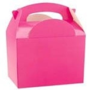 Set of 10 Pink Party Food Boxes.