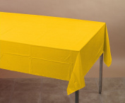 Touch Of Colour Plastic-Lined Table Cover 54x108 School Bus Yellow